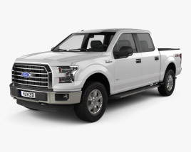 3D model of Ford F-150 Super Crew Cab XLT 2014