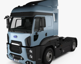 3D model of Ford Cargo XHR Tractor Truck 2011