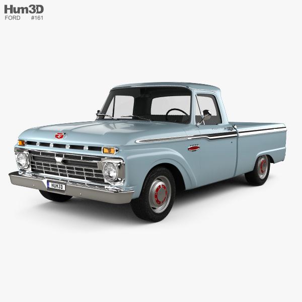 Ford F-100 1966 3D model
