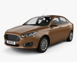 3D model of Ford Escort 2014