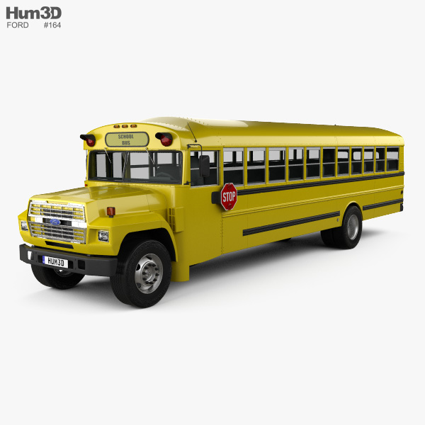 Ford B-700 Thomas Conventional School Bus 1984 3D model