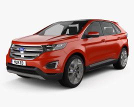 3D model of Ford Edge 2015