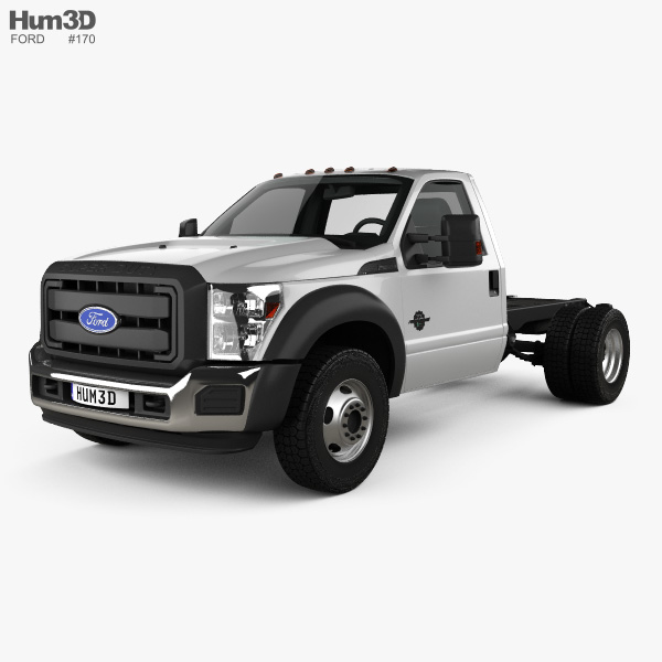 3D model of Ford F-550 Regular Cab Chassis 2010