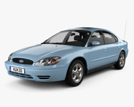 3D model of Ford Taurus 2000