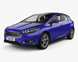 3D model of Ford Focus hatchback 2014