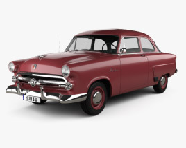 3D model of Ford Mainline (70A) Tudor Sedan 1952