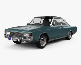 3D model of Ford Taunus (P7) 20M Coupe 1968