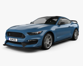 3D model of Ford Mustang (Mk6) Shelby GT350R 2015