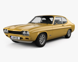 3D model of Ford Capri RS 2600 1970
