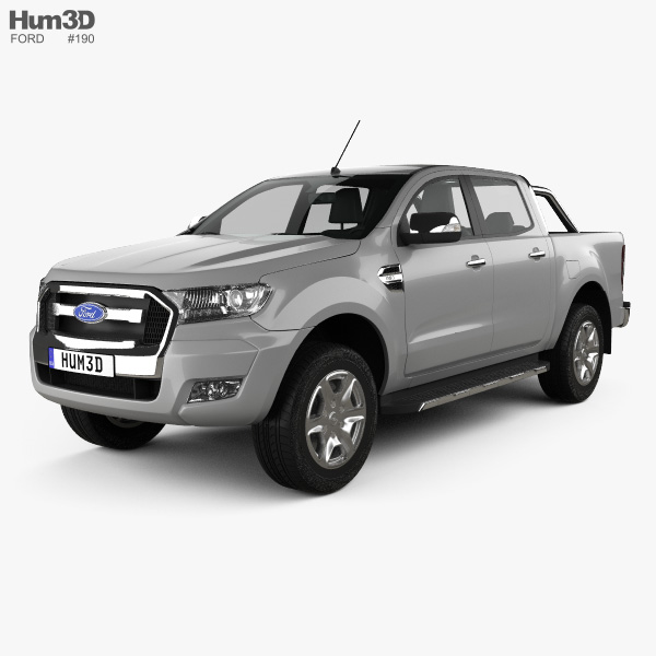 Ford Ranger Double Cab 2015 3D model