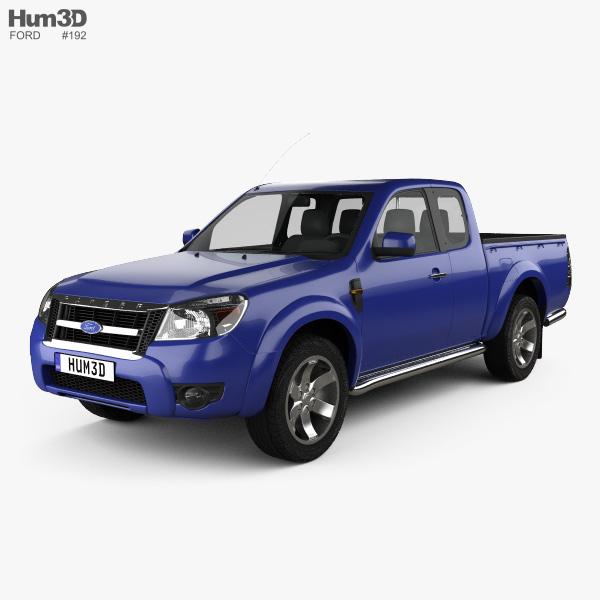 Ford Ranger Extended Cab 2009 3D model