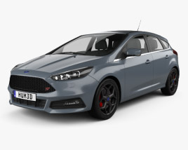 3D model of Ford Focus ST 2015