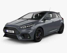 3D model of Ford Focus hatchback RS 2014
