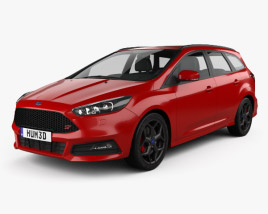 3D model of Ford Focus turnier ST 2014