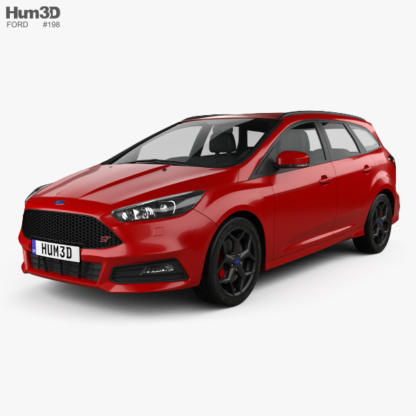 Ford Focus turnier ST 2014 3D model