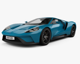 3D model of Ford GT concept 2017