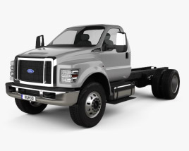 3D model of Ford F-650 Regular Cab Chassis 2016