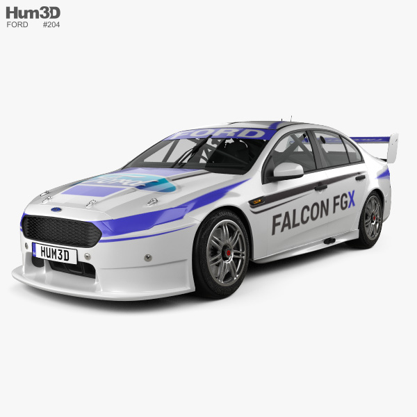 3D model of Ford Falcon (FG) V8 Supercars 2015