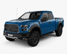 3D model of Ford F-150 Super Cab Raptor 2017