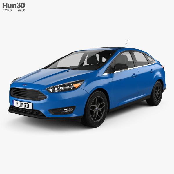 Ford Focus sedan 2014 3D model
