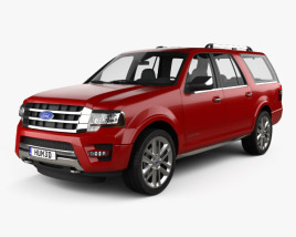 3D model of Ford Expedition EL Platinum 2015