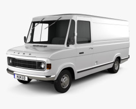 3D model of Ford A-Series Panel Van 1973