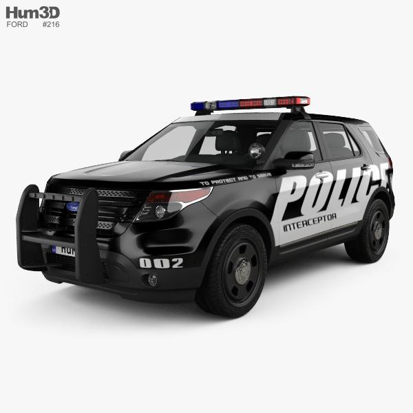 Ford Explorer Polícia Interceptor Utility 2010 Modelo 3d