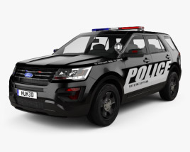 3D model of Ford Explorer Police Interceptor Utility 2016