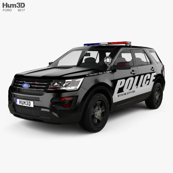 Ford Explorer Polícia Interceptor Utility 2016 Modelo 3d