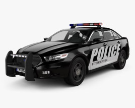 3D model of Ford Taurus Police Interceptor Sedan 2013