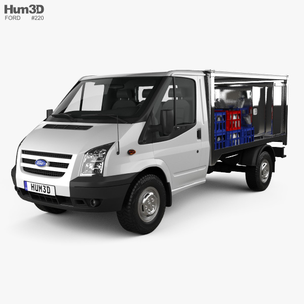 3D model of Ford Transit Milk Float Truck 2012