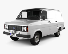 3D model of Ford Transit Panel Van 1978