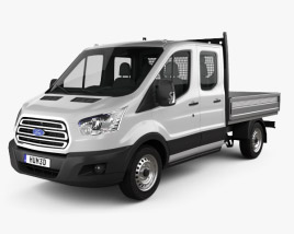 3D model of Ford Transit Double Cab Dropside 2014