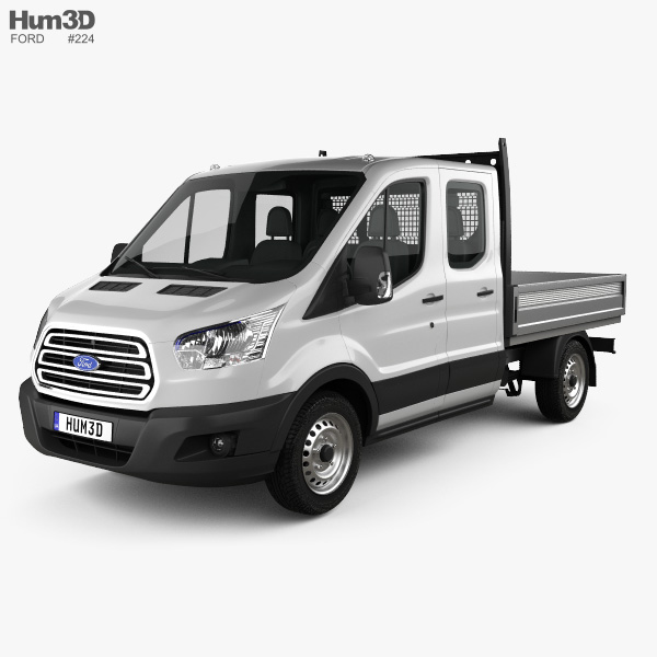 Ford Transit Double Cab Dropside 2014 3D model