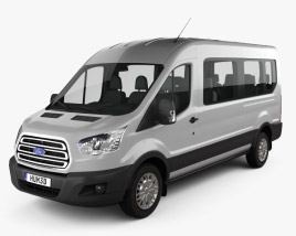 3D model of Ford Transit Minibus 2014