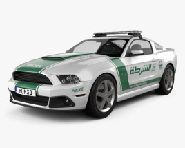 3D model of Ford Mustang Roush Stage 3 Police Dubai 2013