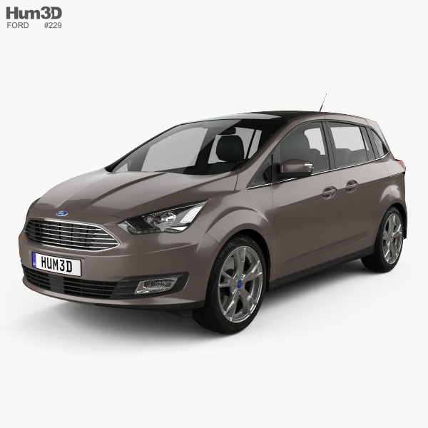 3D model of Ford Grand C-Max 2015
