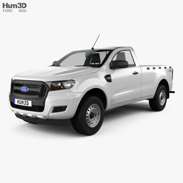 Ford Ranger Single Cab XL 2015 3D model