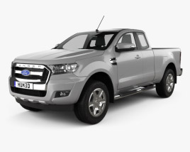 3D model of Ford Ranger Super Cab XLT 2015