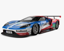 3D model of Ford GT Le Mans Race Car 2016