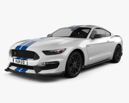 3D model of Ford Mustang Shelby GT350 2015