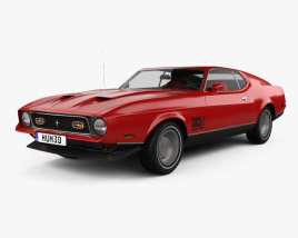 3D model of Ford Mustang Mach 1 1971 James Bond