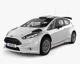 3D model of Ford Fiesta R5 3-door 2014