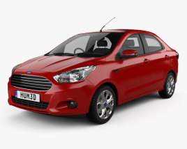 3D model of Ford Figo Aspire 2015