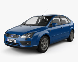 3D model of Ford Focus 5-door hatchback 2004
