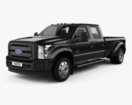 3D model of Ford F-450 Crew Cab XL 2015