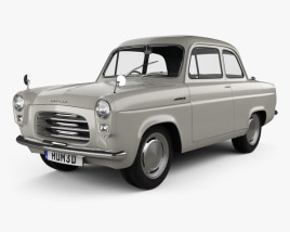 3D model of Ford Anglia 100E 1953