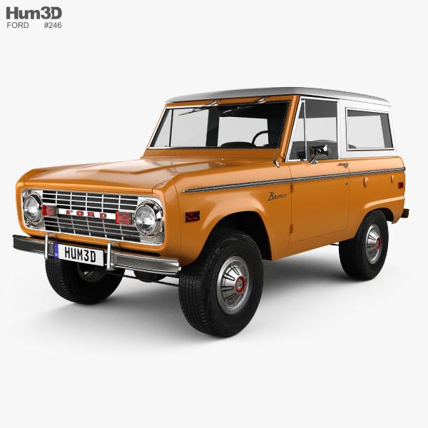Ford Bronco 1975 3D model