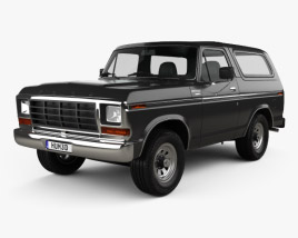 3D model of Ford Bronco 1978