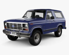 3D model of Ford Bronco 1982